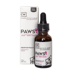 Charlotte's Web Paws Hemp Extract Oil for Dogs — 1 oz (750 mg CBD)