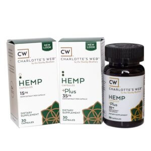 CW Hemp: Simply Hemp Oil Capsules 30-pack (450-1,050mg CBD Total)